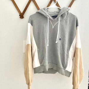 Abercrombie Cropped Color Blocked Hoodie